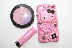 Swarovski Pink Stud Hello Kitty Iphone 4/4s case by slave2beauty