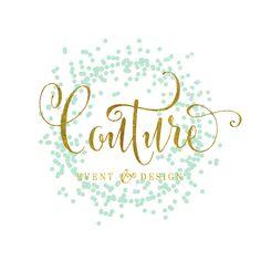 Custom pre-made logo - logo design - calligraphy logo - gold logo - confetti logo - freshmint paperie by FreshmintPaperie on Etsy https://www.etsy.com/listing/224069368/custom-pre-made-logo-logo-design