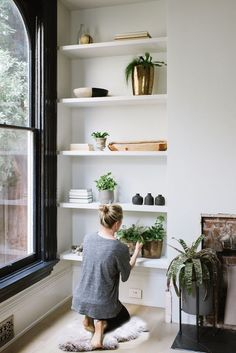 "Your shelves don't have to be spaces of clutter and chaos! Check out these tips on how to style the perfect ""shelfie""."