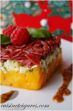 Duck breast, mango and zucchini Tartar - Tartare Magret Mangue Courgette