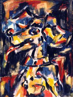 Jacqueline Ditt - Der Bunte Hund (The Varicoloured Dog) - universal arts Galerie Studio - Grafik Druck Kunstdruck nach dem Gemälde universal arts Galerie Studio edition http://www.amazon.de/dp/B00KAEVK0K/ref=cm_sw_r_pi_dp_kOD5vb1VV87DG