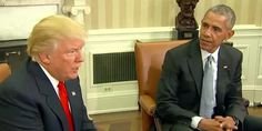 WATCH: Trump Meets President Obama for the first time (FULL VIDEO)
