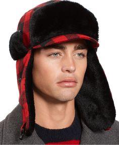 American Rag Hat, Buffalo Check Trapper - Macy's