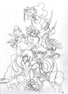 kingdom hearts coloring pages | Kingdom hearts 2 coloring pages