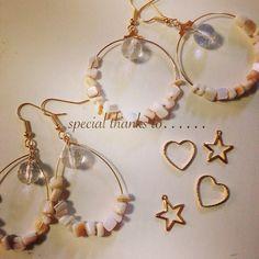 sea shell hoops by cocosalt アクセサリー ピアス