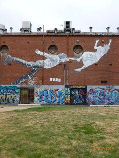 Street Art Paste Up, Footscray Graffiti Murals, Street Art Graffiti, Wall Murals, Outdoor Sculpture, Outdoor Art, Sculpture Art, Art Installations, Installation Art, Popular Art
