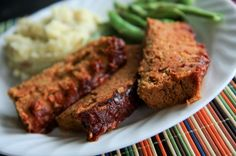 "Meatless ""meatloaf"" aka bean-loaf I'll have to try sometime"