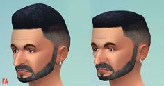 The Sims 4 | Hairstyle - Lower Flattop for Males adult male natural hairs new mesh