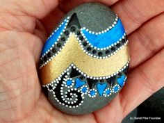 Santorini / painted stones / painted rocks / by LoveFromCapeCod