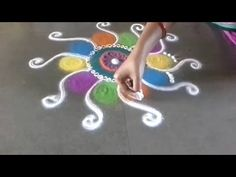 New fancy rangoli design - YouTube