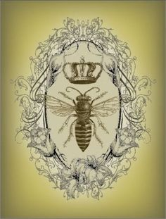 Bees: Vintage Victorian #Bee Print.