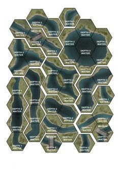 Terrain Hex Pack in progress Board Game Design, Game Ui Design, Hexagon Game, Hex Map, Hexagon Cards, Tiles Game, Game Terrain, Adventure Map, Dungeons And Dragons Homebrew