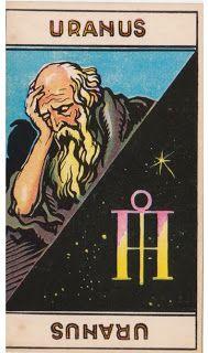 Cartas do Destino: Destino e Tarô: Tarot Astrologique - A Carta Urano...