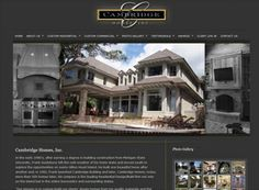 This construction company / home builder website really does a nice job of showcasing pictures and giving you an inviting feeling. Construction Wallpaper, Website Designs, Home Builders, Mansions, House Styles, Nice, Building, Pictures, Photos