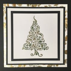 Created by Tracy Nutton for  Sweet Poppy Stencils, using   their Christmas Tree Swirl Stencil. I used Honey Doos glue and gilding flakes.