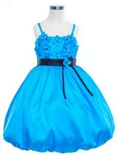 Flower Girl Dress? $54.99 Turquoise Scattered Daisys Flower Girl Dress