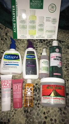 Must haves for clearing acne •• follow @balckgirl_naya for more http://beautifulclearskin.net/category/clear-skin-tips/