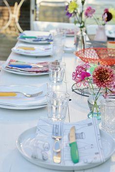 summer dinner in the garden by wood & wool stool, via Flickr