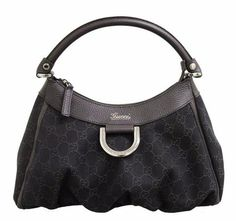 Women's Top-Handle Handbags - Gucci Hobo Brown Denim Bag Handbag 265692 *** Click image for more details. Gucci Black, Hobo Handbags, Gucci Handbags, Marc Jacobs Hobo Bag, Leather Hobo Bags, Denim Bag, Louis Vuitton Speedy Bag, Totes, Elegant