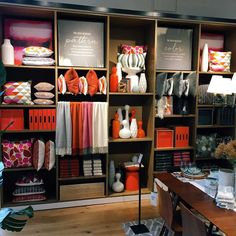 Store visual design and merchandising work at West Elm and Banana Republic Furniture Store Display, Furniture Showroom, Showroom Design, Shop Interior Design, Visual Merchandising Displays, Retail Store Design, Store Interiors, Retail Interior, Store Displays