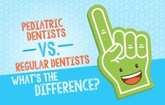 regular dentists—what's the difference? Dental Kids, Pediatric Dentist, Dentists, Pediatrics, Health Care, Teaching, Children, Blog, Kids