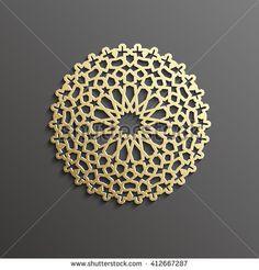 Seamless Islamic pattern 3D