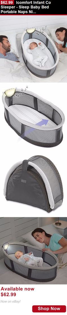 Bassinets And Cradles: Icomfort Infant Co Sleeper - Sleep Baby Bed Portable Naps Night Light Lullabies BUY IT NOW ONLY: $62.99