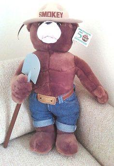 J-J-WIND-SMOKEY-The-Bear-21-in-Brown-Plush-Teddy-All-Occasion