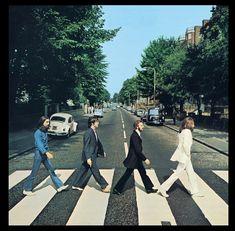 Portada de disco de los Beatles.  Beatles, Abbey Road