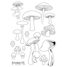 mushroom embroidery patterns