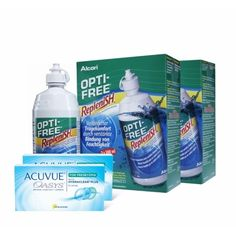 Zwei Acuvue Advance for Astigmatism Pack & Vier Optifree RepleniSH