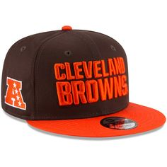 4aab8638 Youth Cleveland Browns New Era Brown/Orange Baycik 9FIFTY Snapback  Adjustable Hat, Your Price: $24.99
