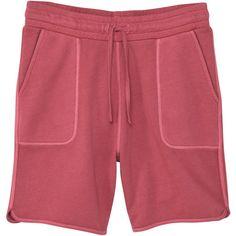 Textured Cotton-Blend Bermuda Shorts ($24) ❤ liked on Polyvore featuring men's fashion, men's clothing, dark orange and mango man