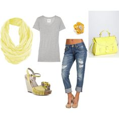 Yellow & Gray Casual Spring