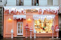 новогодний декор витрин фото