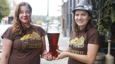 """The ticketed Asheville Oktoberfest is back in Downtown on Sat. Oct.10, 2015 from 1-6 pm at a new larger, shadier location, along Woodfin Street between Central Avenue and Oak ... enjoy a Parade and costume contest, German and German-style Oktoberfest brews from multiple breweries, wine & hard cider, German foods, lederhosen, Alpenhorns and the Stratton Mountain Boys """"oompah"""" music. Also, the Oktoberfest Games will be on """"tap"""" with the stein race, keg-rolling & more ..."""