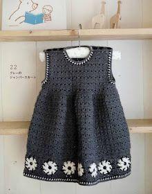 Crochet Knitting Handicraft: Crochet Children Dress (A)