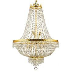 Add some classic elegance to your dining room or any other room with this gorgeous Empire nine-light crystal chandelier. Modeled after grand chandeliers found in palaces throughout Europe, this light fixture will make your own home feel like a palace.