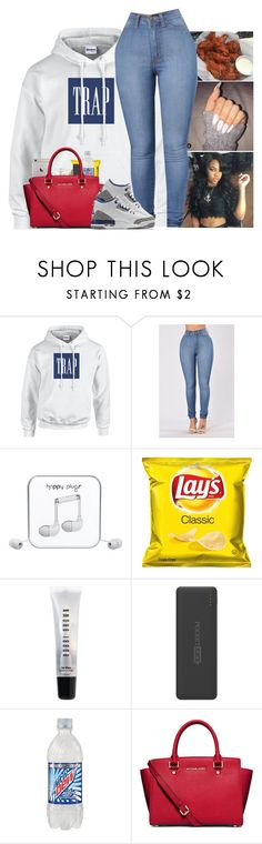 """"""""""" by kennisha84 ❤ liked on Polyvore featuring Gucci, Happy Plugs, Bobbi Brown Cosmetics, Tzumi, MICHAEL Michael Kors and NIKE"""