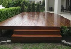 Timber Deck Design Ideas - Get Inspired by photos of Timber Decks . Small Backyard, Timber Deck, House With Porch, Outdoor Decor, Patio Design, Deck Design, Building A Deck, Deck Designs Backyard