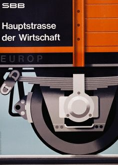 Poster Design by Hans Hartmann from 1962. More... | WE AND THE COLOR a blog inspiration in graphic design, illustration art, photography, product desi
