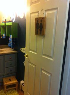 Rustic Bathroom Sign, Home Decor, Housewarming, Bath Room, People on Etsy, $15.00
