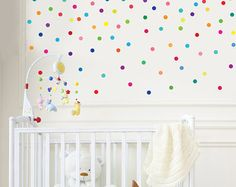 Sixteen Colors Polka Dot Wall Decals Removable by WallDressedUp