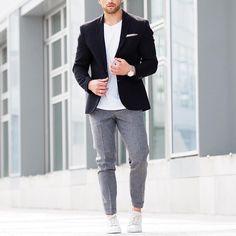 Black blazer  trouser and #sneakers by @aligordon89  [ http://ift.tt/1f8LY65 ]