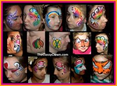 Great face painting ideas for kids' parties.. Chicago Face Painters