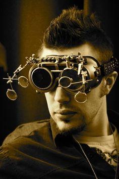 ✿ New Five Lens Steampunk Sleepy Hollow Unisex Mad Scientist Goggles ✿ #gadgets #steampunk