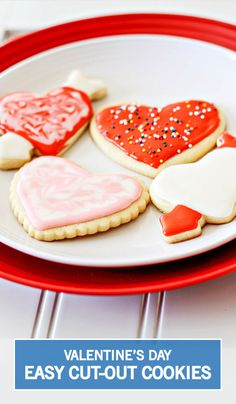 When it comes to Valentine's Day, we think that these Easy Cut-Out Heart Cookies would make a wonderful gift idea. Have your kids decorate them with a variety of colored frostings and sprinkles for a personalized touch to this dessert recipe!
