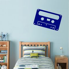 Retro Style Audio Cassette Tape Wall Decal Wall by AdnilCreations