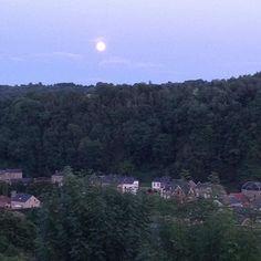 Great full moon in my neighborhood in Belgium... ;) #fullmoon #belgique #été2017
