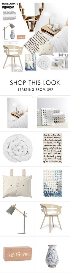 """""""Redecorate Bedroom"""" by taci42 ❤ liked on Polyvore featuring interior, interiors, interior design, home, home decor, interior decorating, PBteen, The Fine Bedding Company, Designers Guild and Design House Stockholm"""